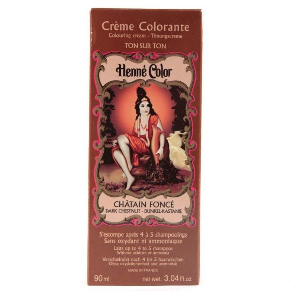 Dark Chestnut Henne Henna Liquid Hair Dye Colouring Cream